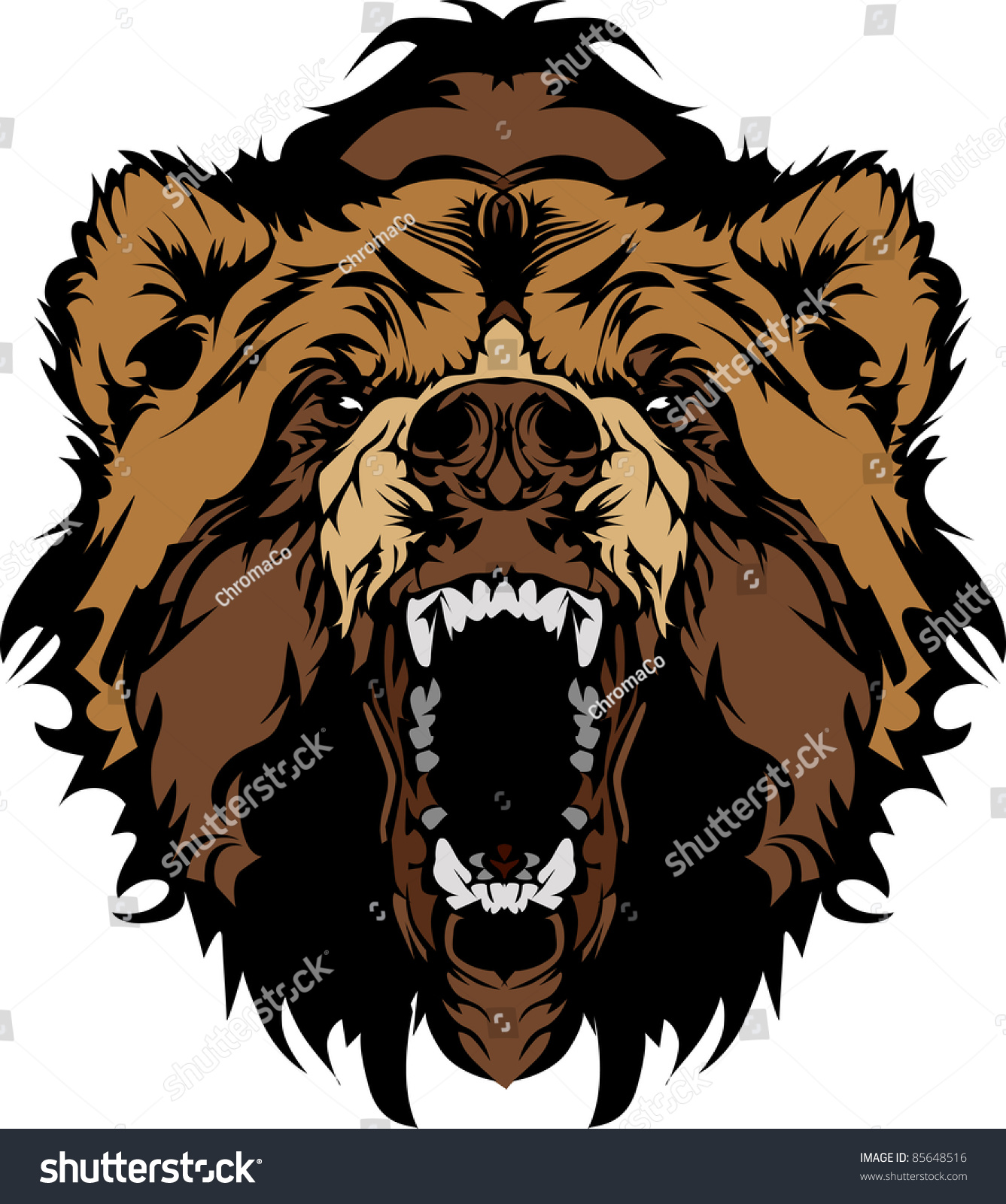 grizzly bear mascot head vector graphic 85648516 clipart cover for a cookbook clip art covers 150 x 400