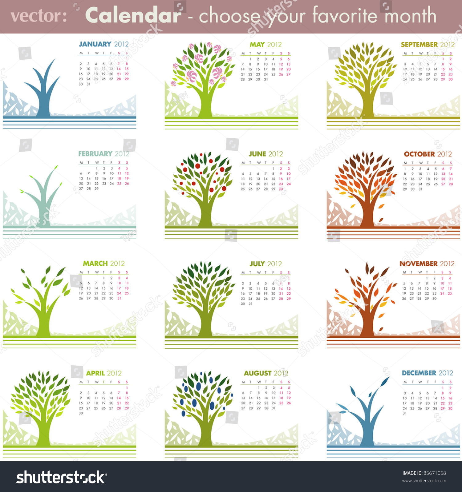 Calendar Pages Vector : Calendar pages isolated on white vector