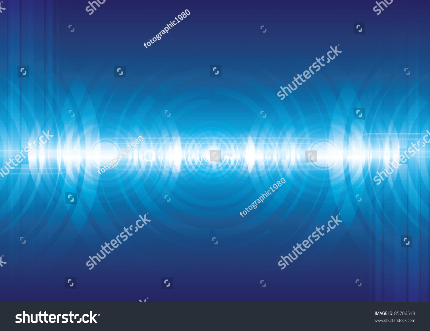 Abstract Digital Sound Wave Background Stock Vector 85706513 ...