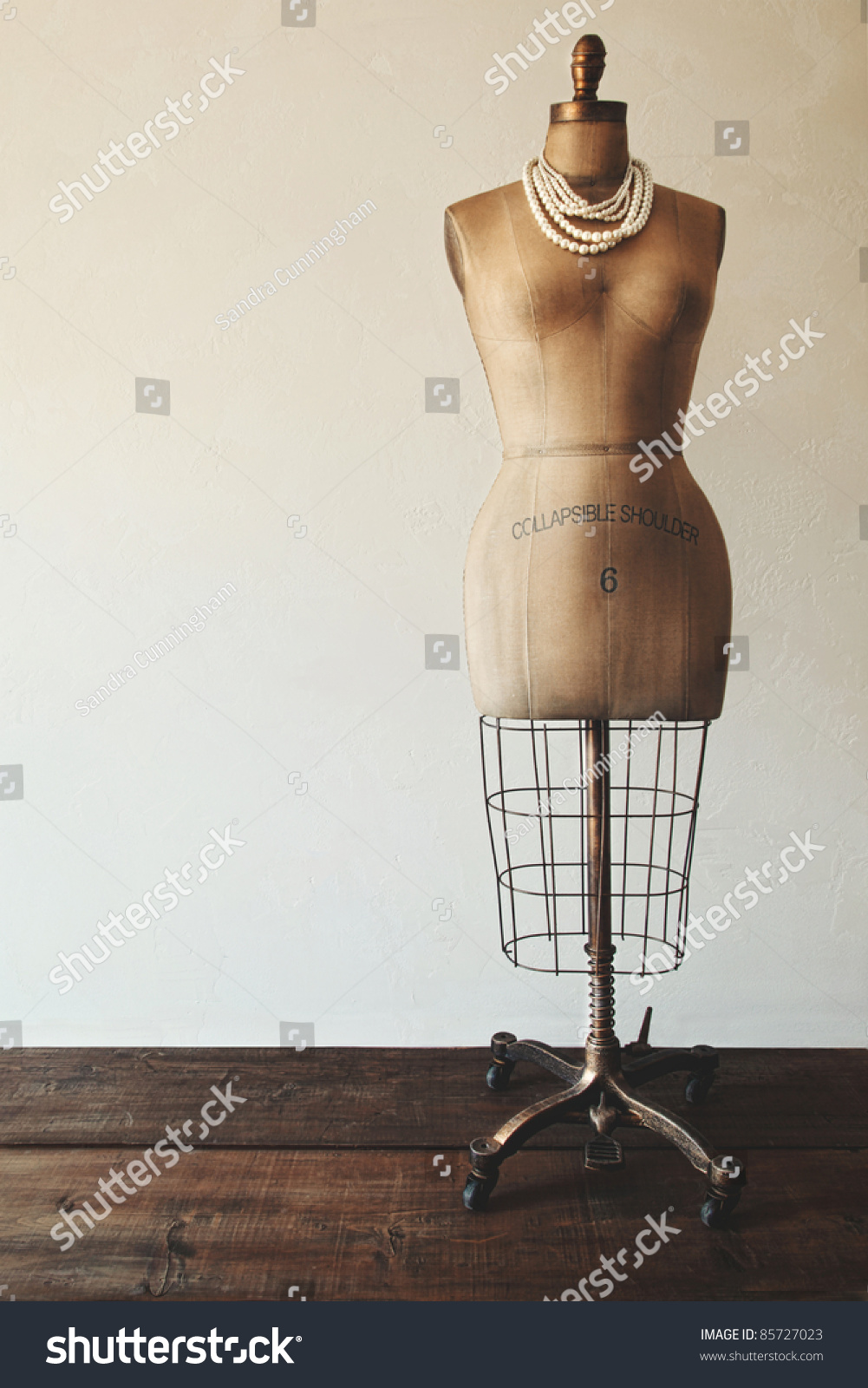 Antique Dress Form With Vintage Feel Stock Photo 85727023 ...