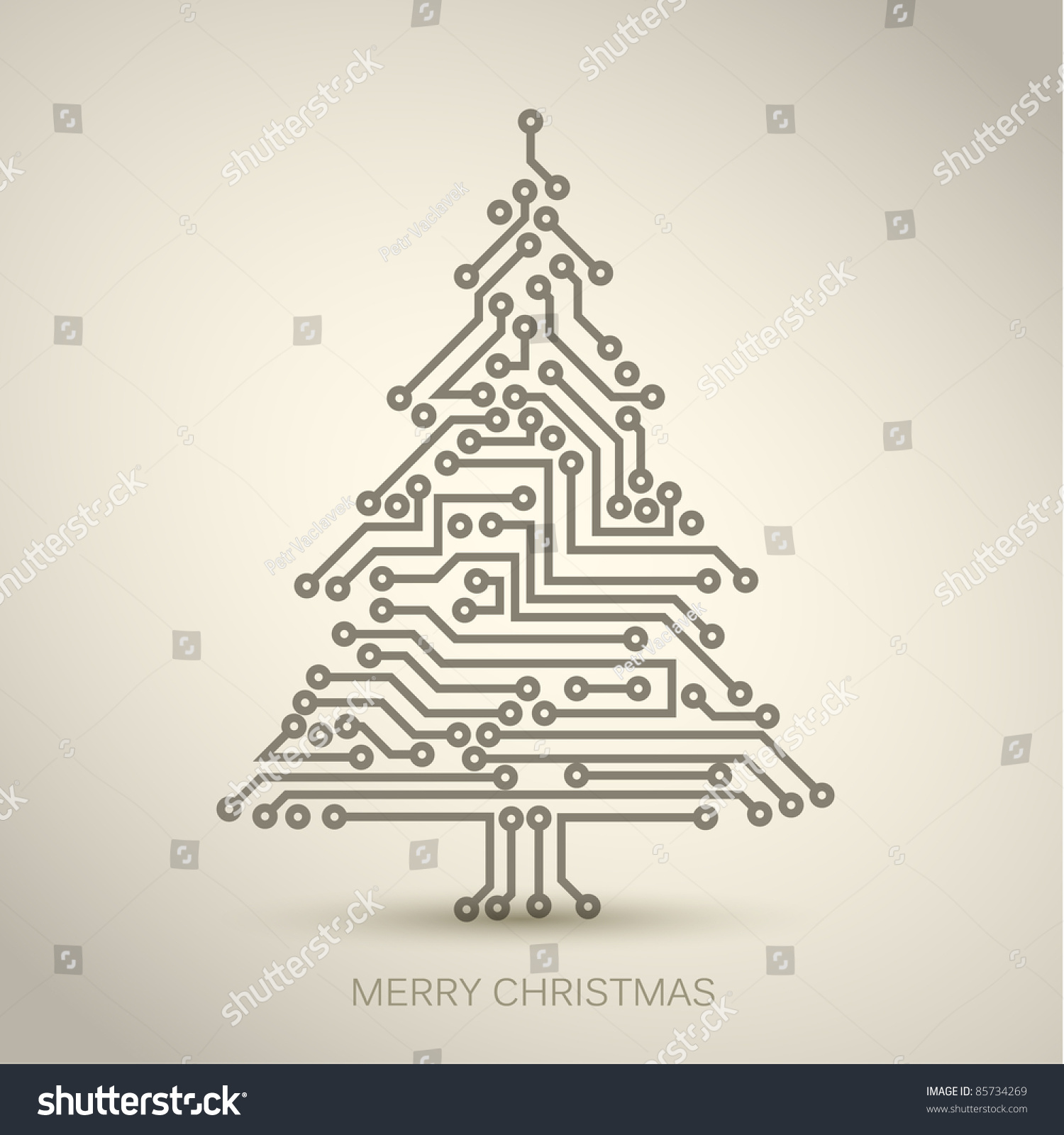 how to draw christmas tree digital