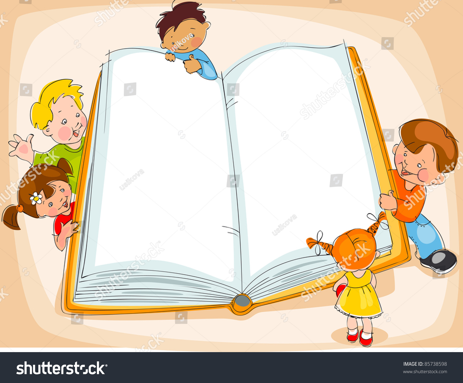 young children are reading a great book drawing banner - Drawing Books For Children