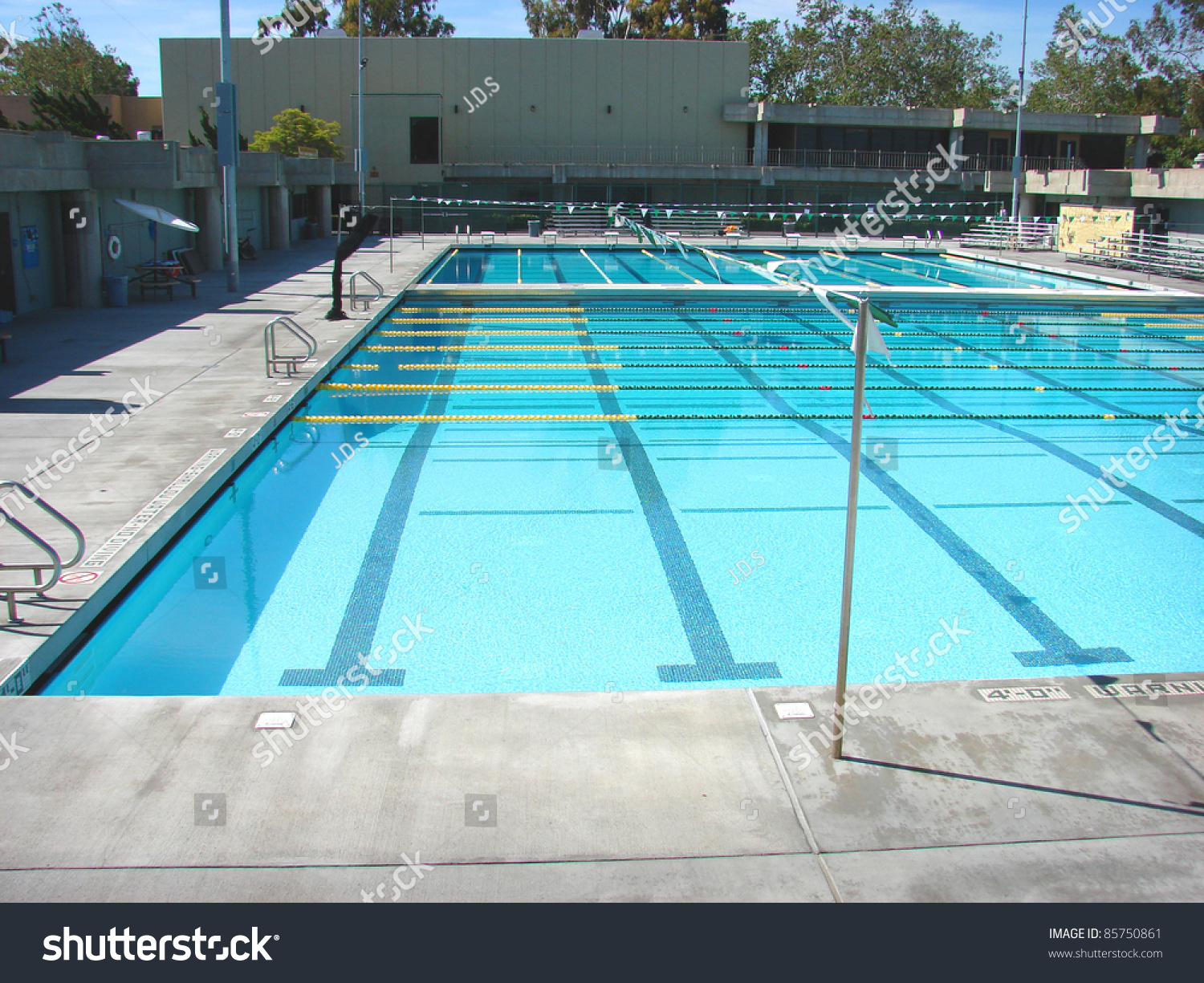 Olympic Size Swimming Pool Stock Photo 85750861 Shutterstock