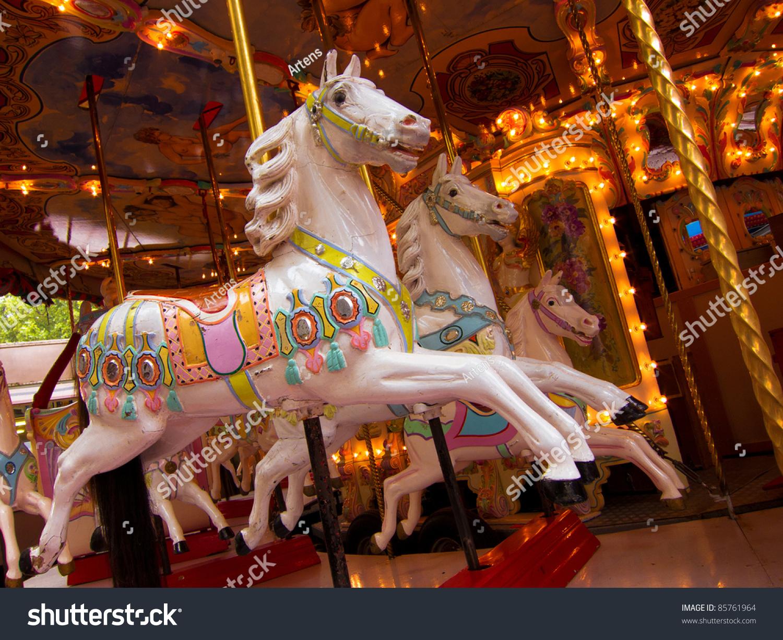 carousel carnival horses carousel horses on stock photo edit now