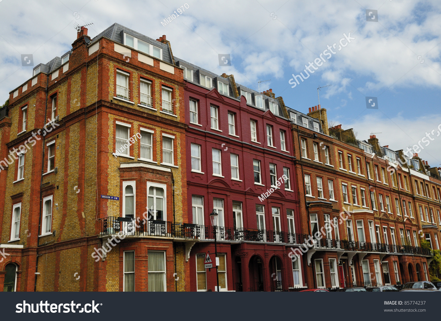 Traditional English Architecture Chelsea Street London Stock Photo ...