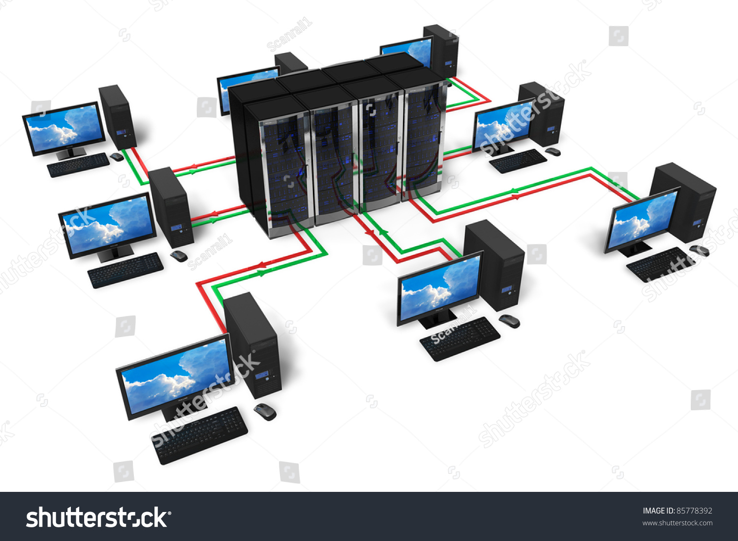 Network Internet Communication Concept Isolated On Stock ...