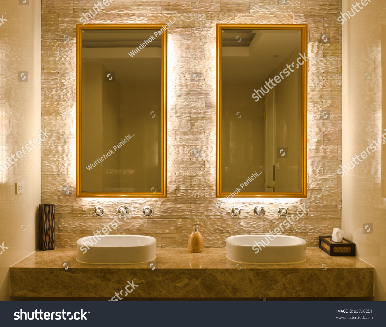 Modern Style Interior Design Of Bathroom Stock Photo 85790251 ... - ^
