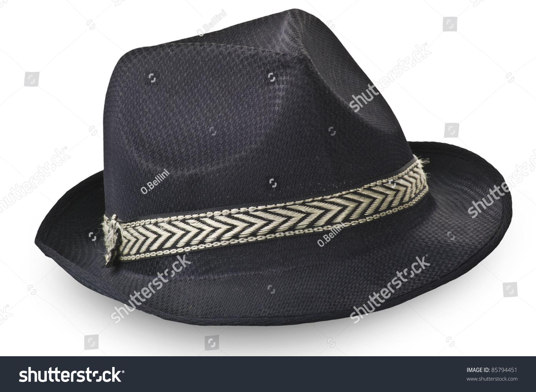 51c05097bc1 Borsalino Hat On White Stock Photo (Edit Now) 85794451 - Shutterstock