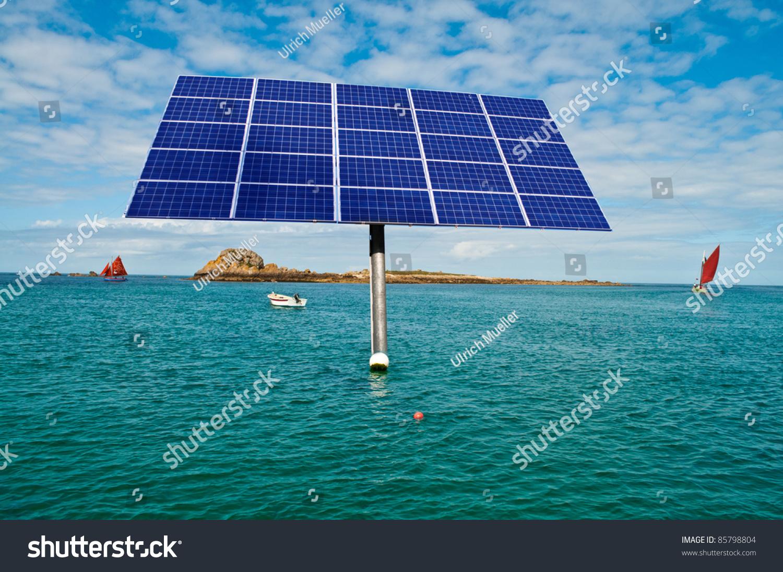 Offshore Solar Panel Ocean Stock Photo 85798804 Shutterstock