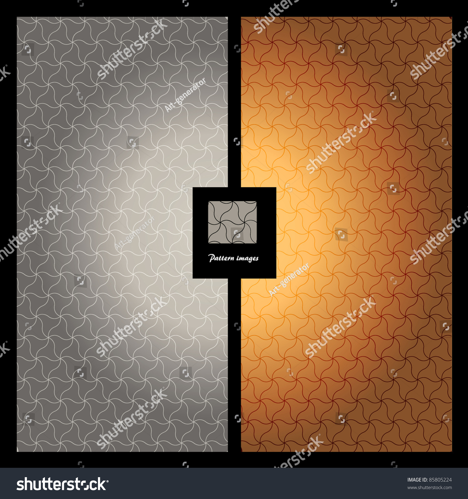 Pattern Wallpaper Background Silver Gold Color Stock Vector
