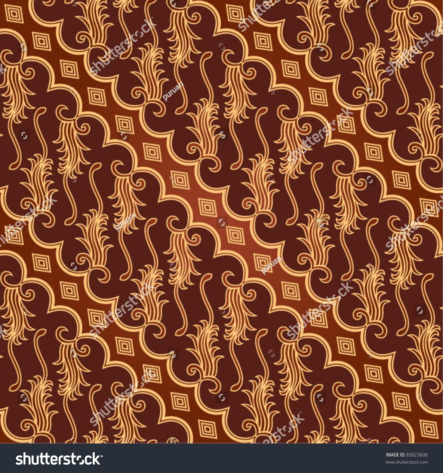 Seamless Javanese Batik Pattern Stock Vector Illustration