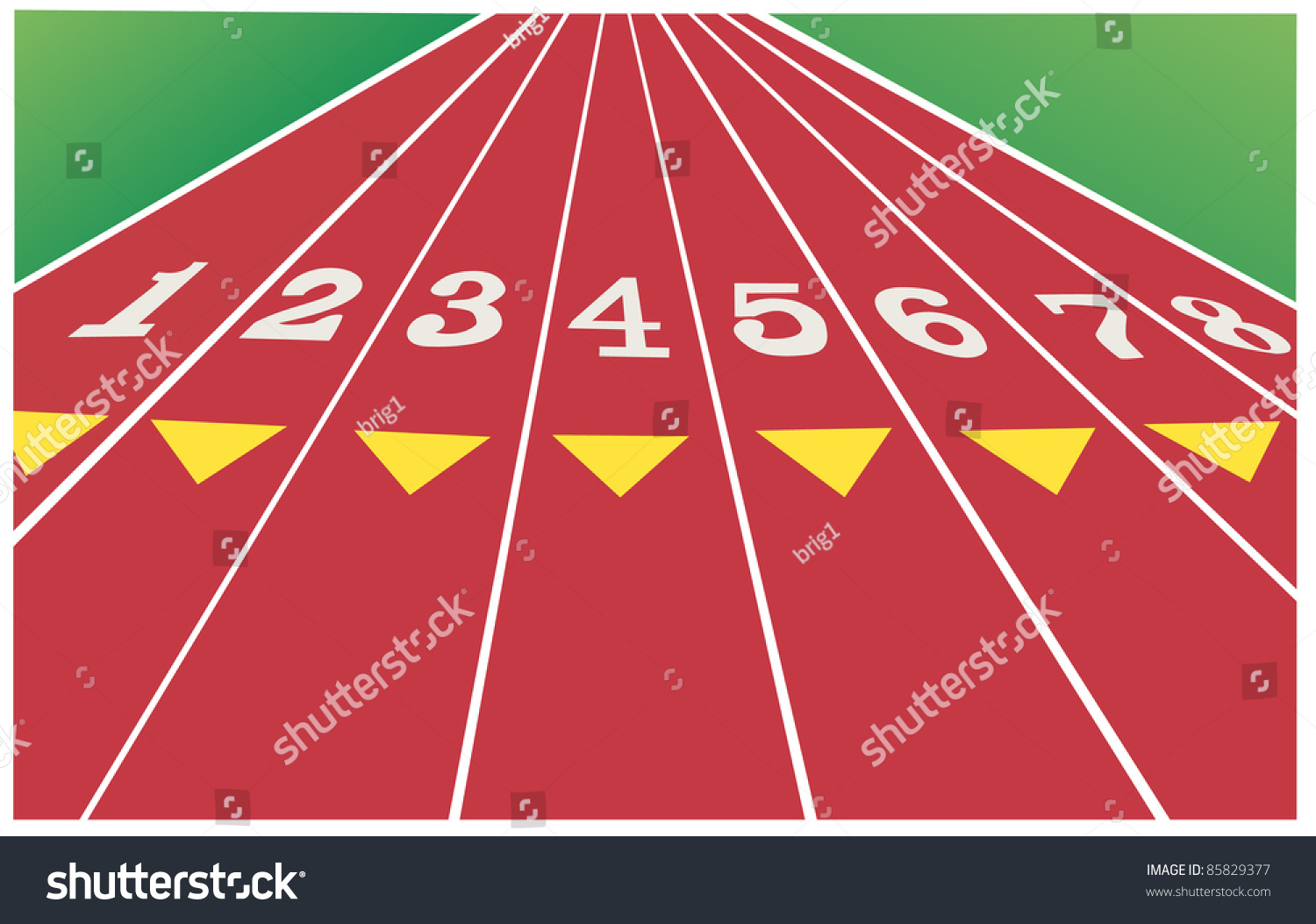 how to draw a running track