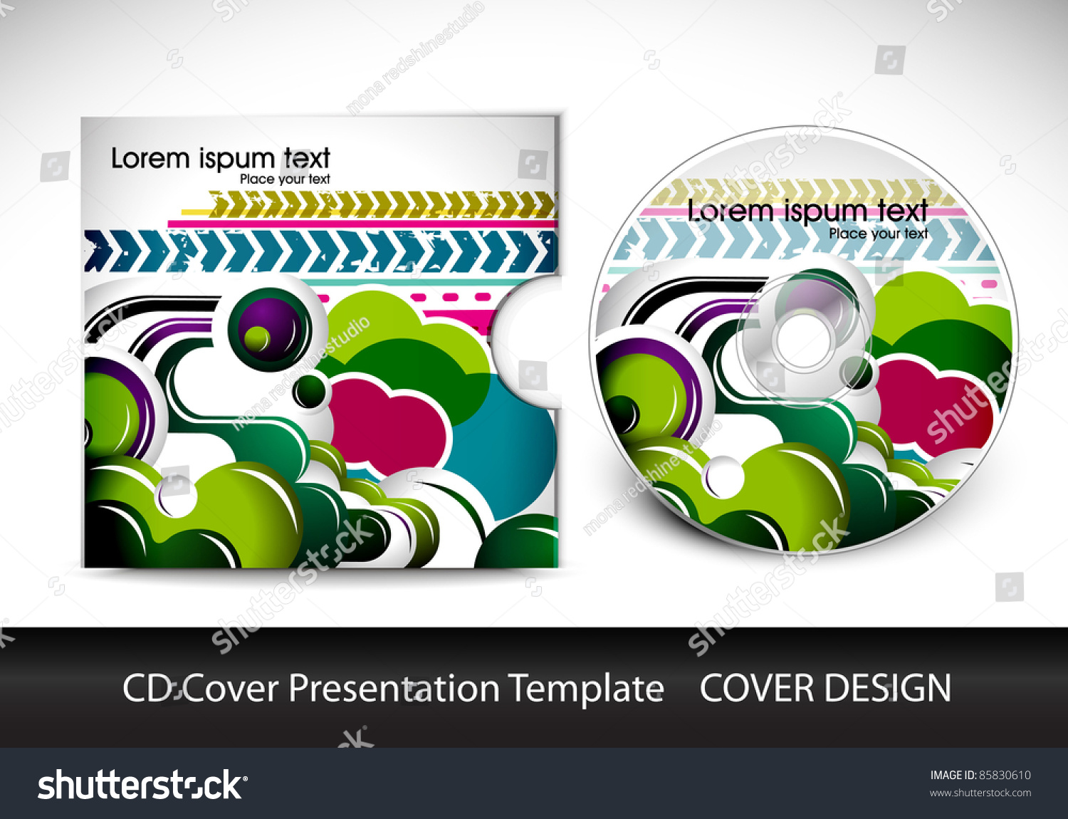 cd cover presentation design template editable stock vector 85830610 shutterstock. Black Bedroom Furniture Sets. Home Design Ideas