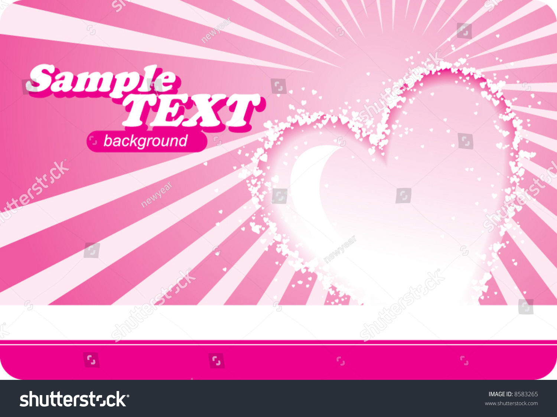 valentines card stock vector 8583265 shutterstock Human Heart Drawing Heart Rhythm Clip Art