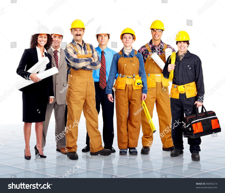 Group contractors people uniform worker construction stock for Builder contractors