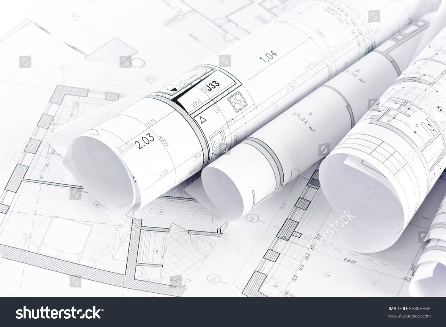 Part Architectural Project Stock Photo 85863655 Shutterstock