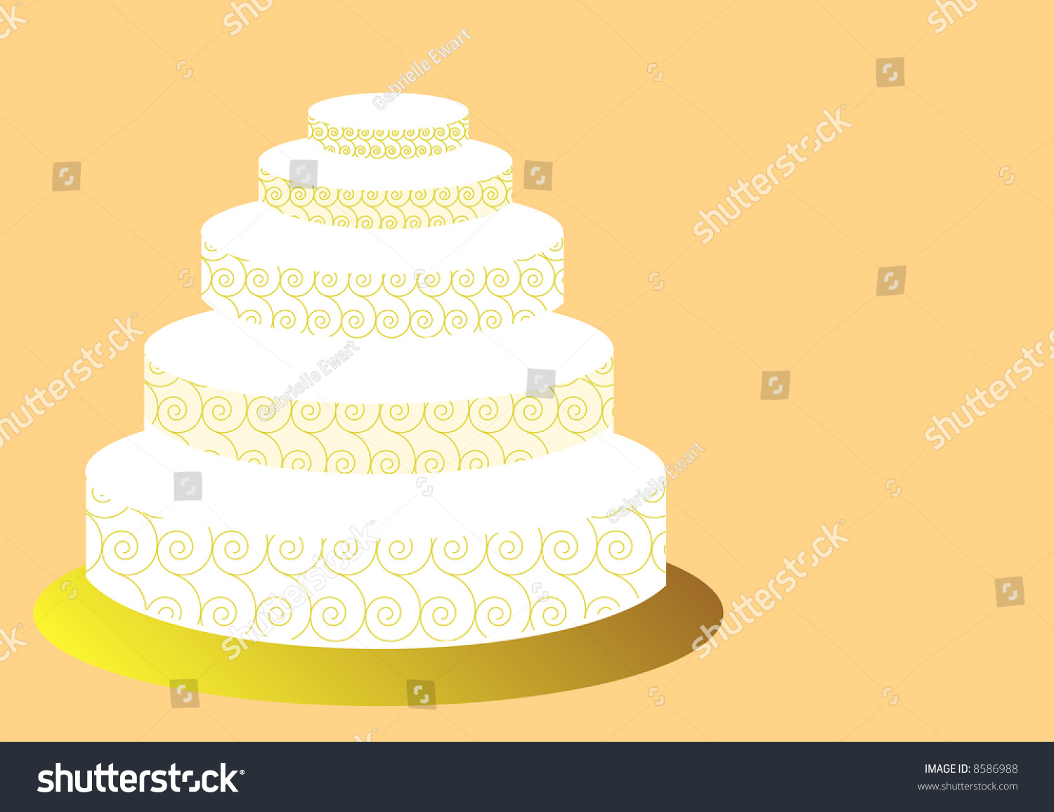 wedding cake square shaped with flowers three tiers | EZ Canvas