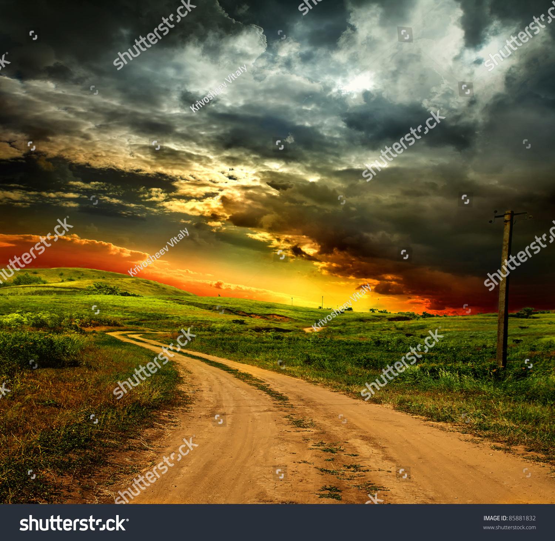 Beautiful Nature Landscape Stock Photo 85881832 - Shutterstock