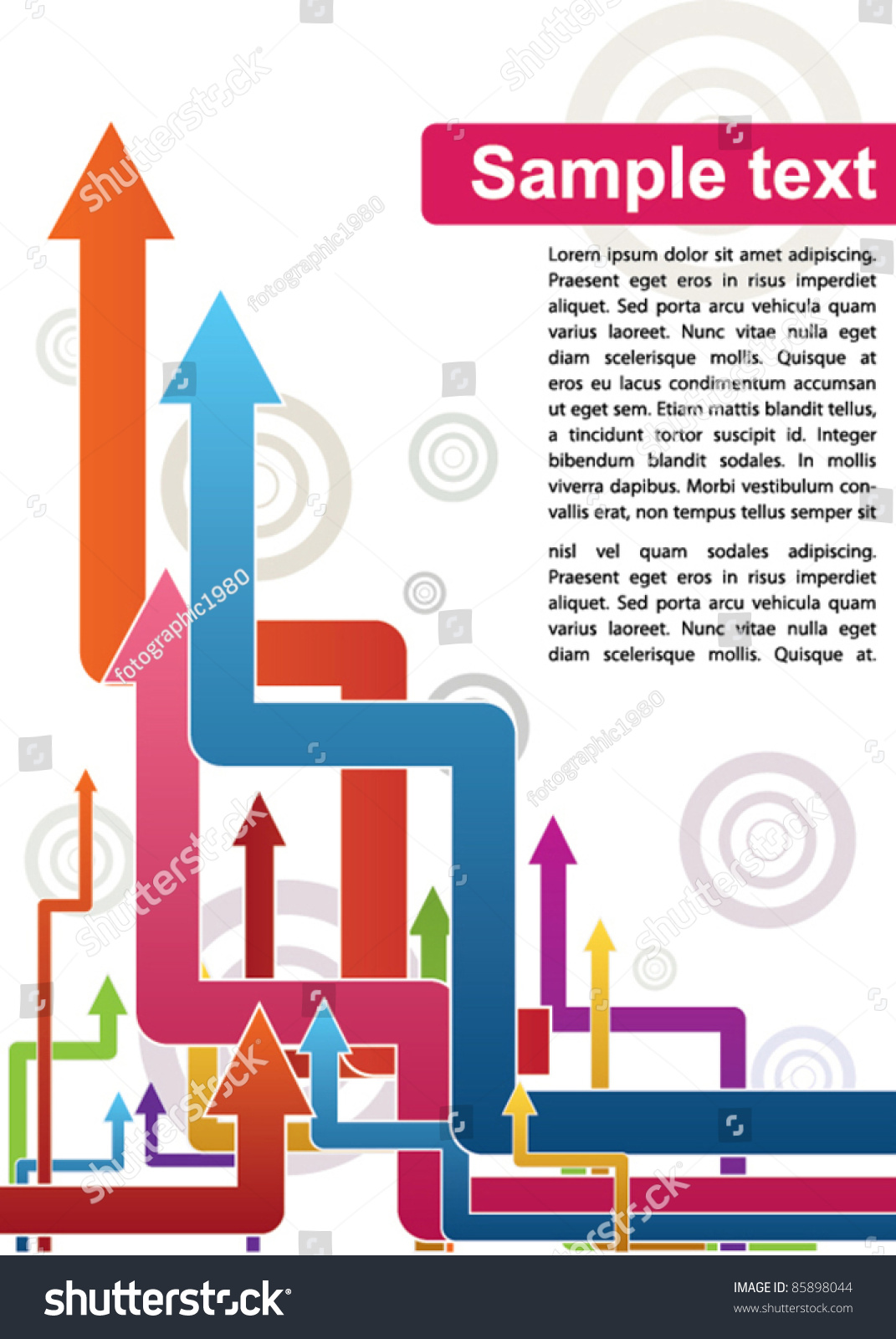 Abstract Arrows Poster Template Stock Vector Illustration 85898044 ...