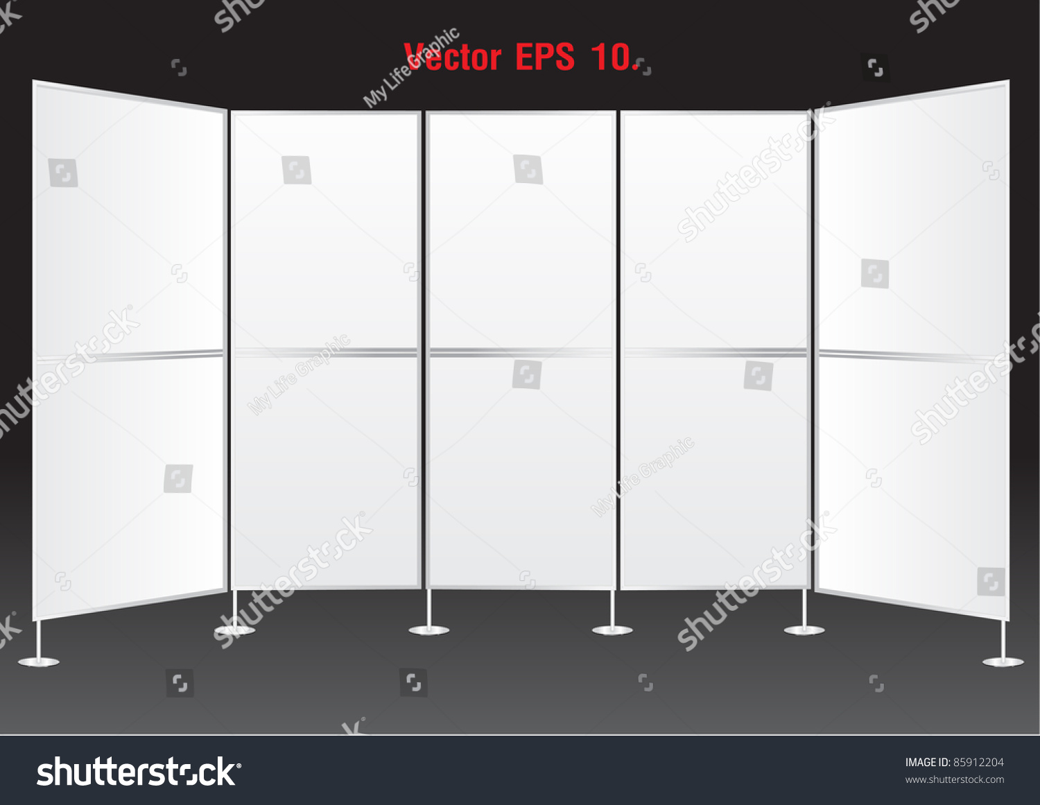 blank banner display stands advertising vector template for save to a lightbox