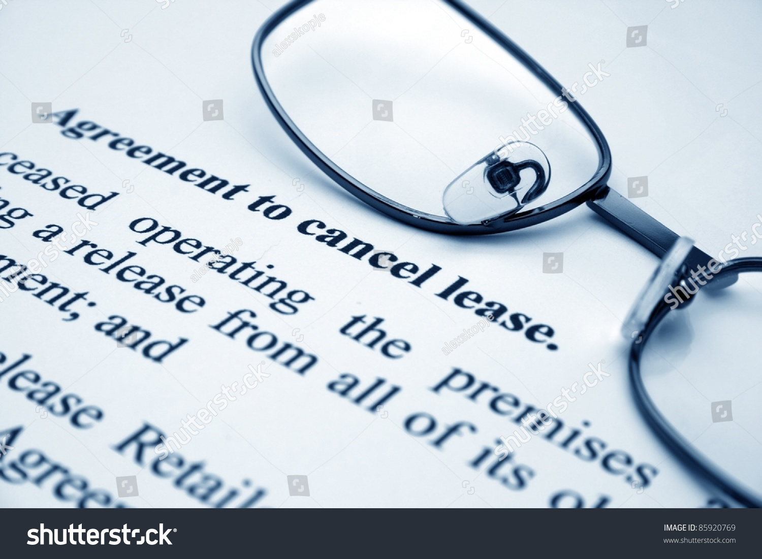 Agreement Cancel Lease Stock Photo Edit Now 85920769 Shutterstock