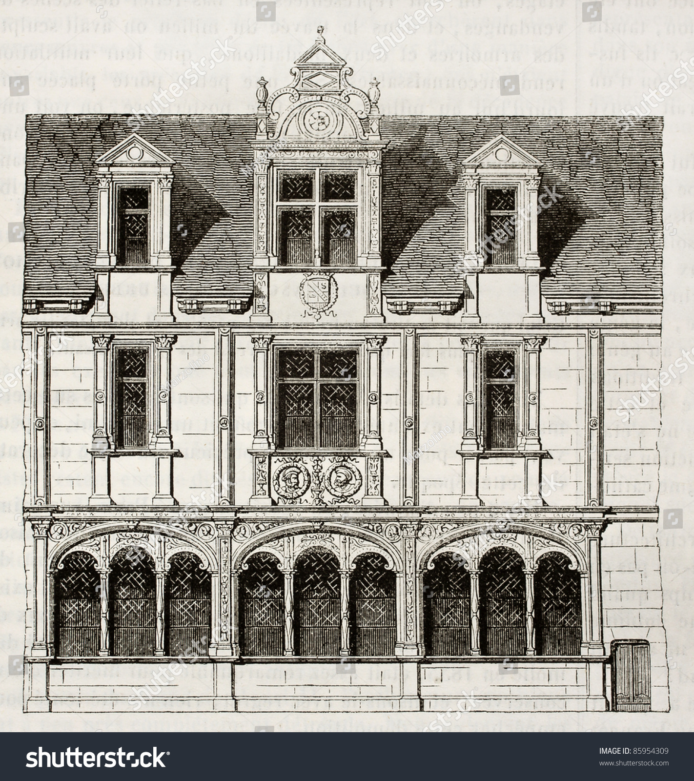 house in rue saint paul paris demolished in 1835 by unidentified author published on. Black Bedroom Furniture Sets. Home Design Ideas