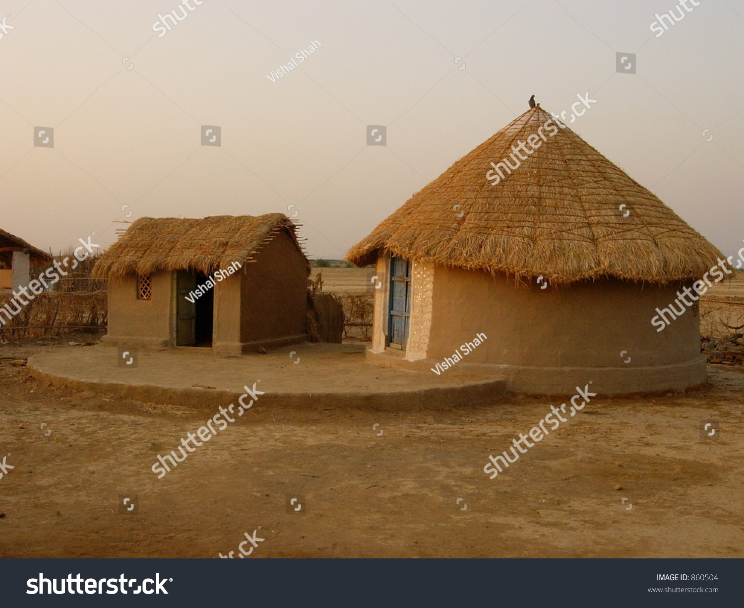 Indian village house with for Different shapes of houses