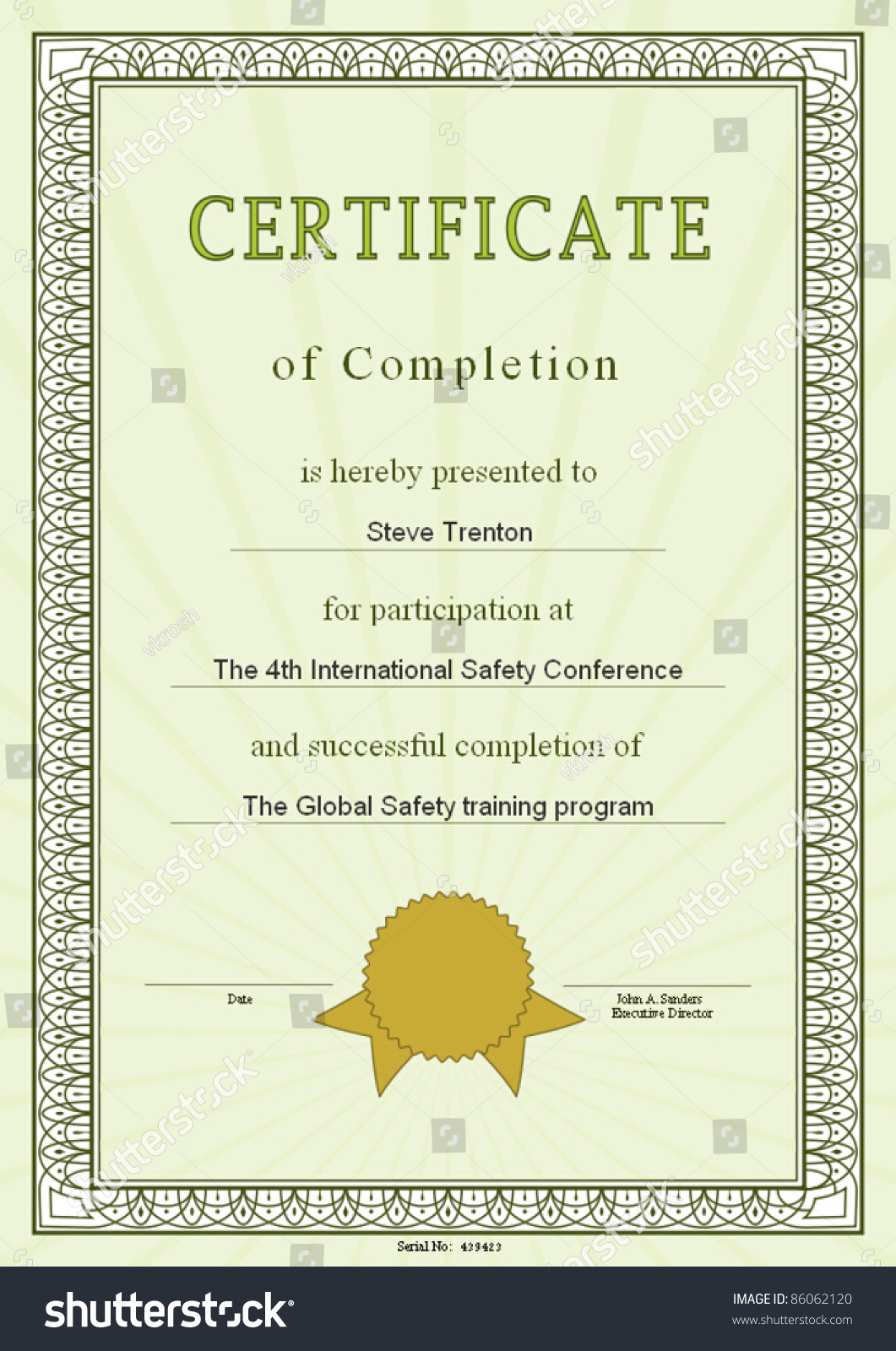 Vector certificate frame sample content stock vector 86062120 vector certificate frame with sample content yadclub