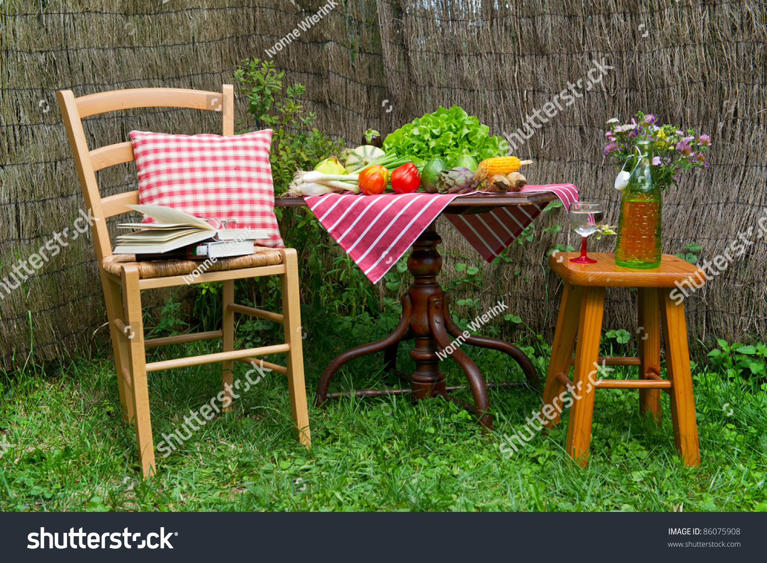 Seats Table Quiet Corner Garden Stock Photo Edit Now 86075908
