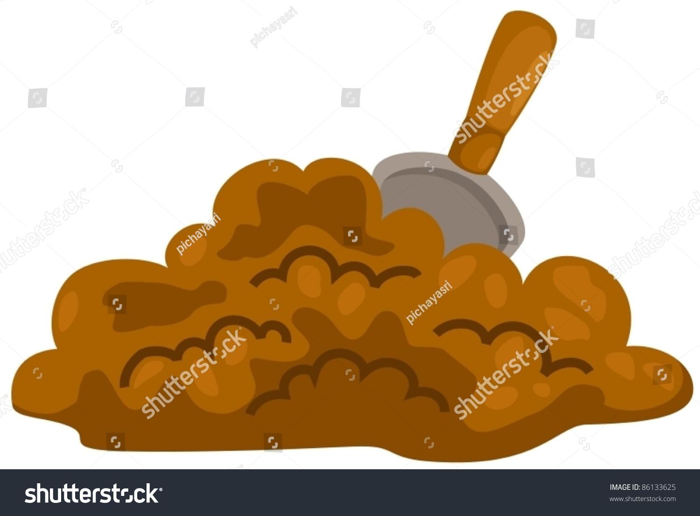 Illustration Isolated Small Shovel Soil On Stock Vector