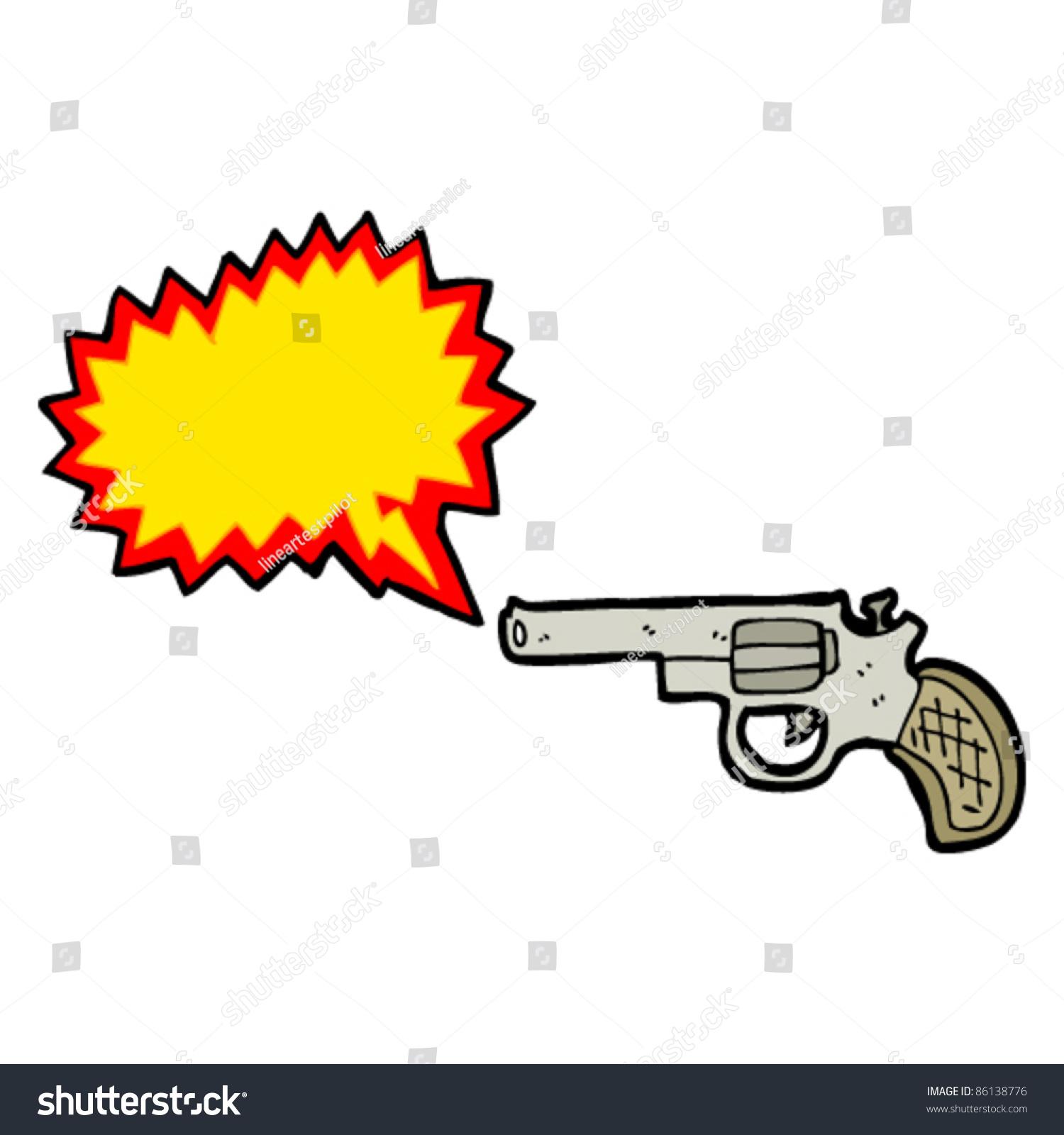 Cartoon gun blank bang symbol stock vector 86138776 shutterstock cartoon gun with blank bang symbol biocorpaavc