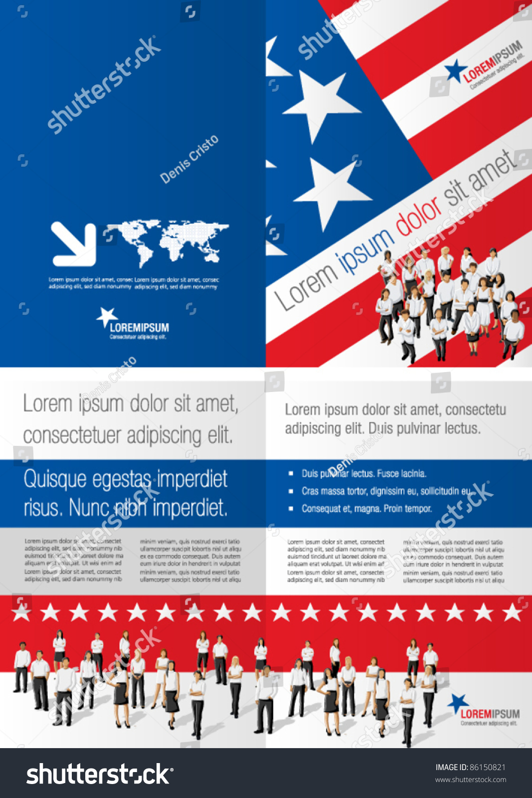 america brochure template - american flag template for advertising brochure with