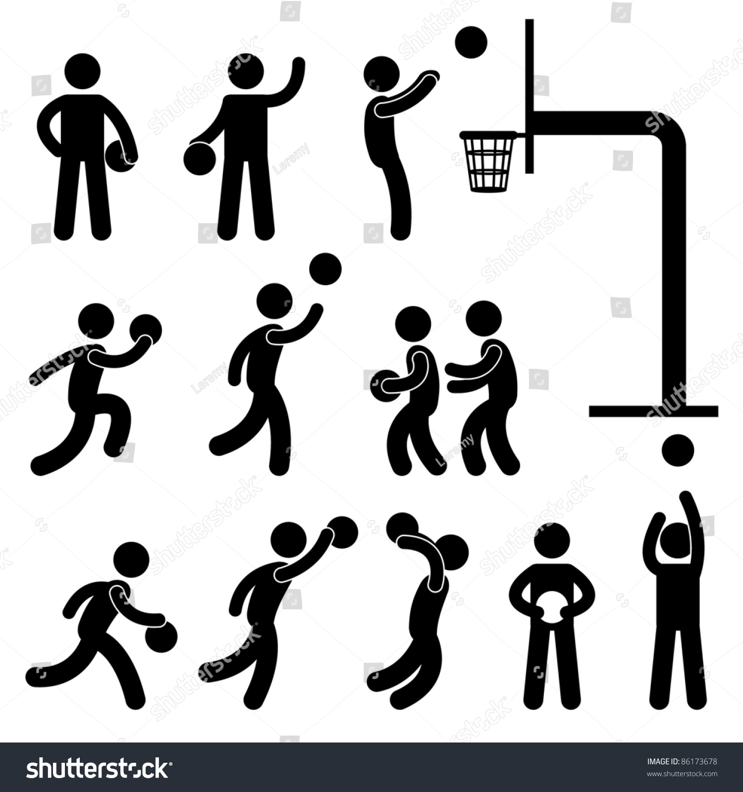 Basketball Player People Icon Sign Symbol Stock Vector ...