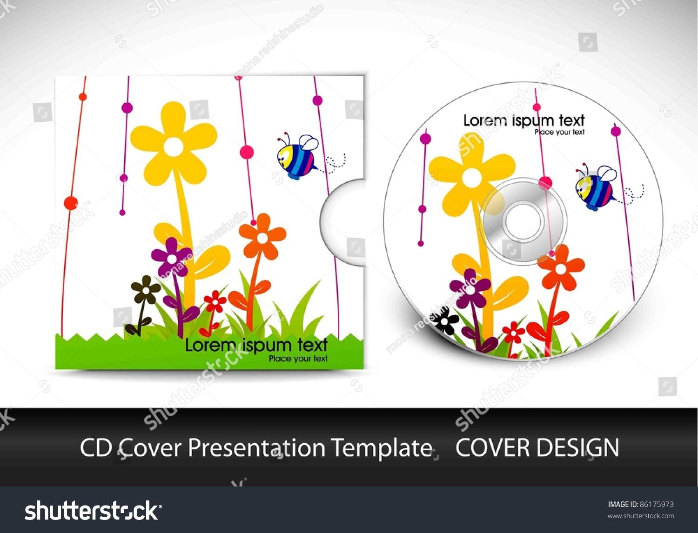 cd cover presentation design template editable stock vector, Presentation templates