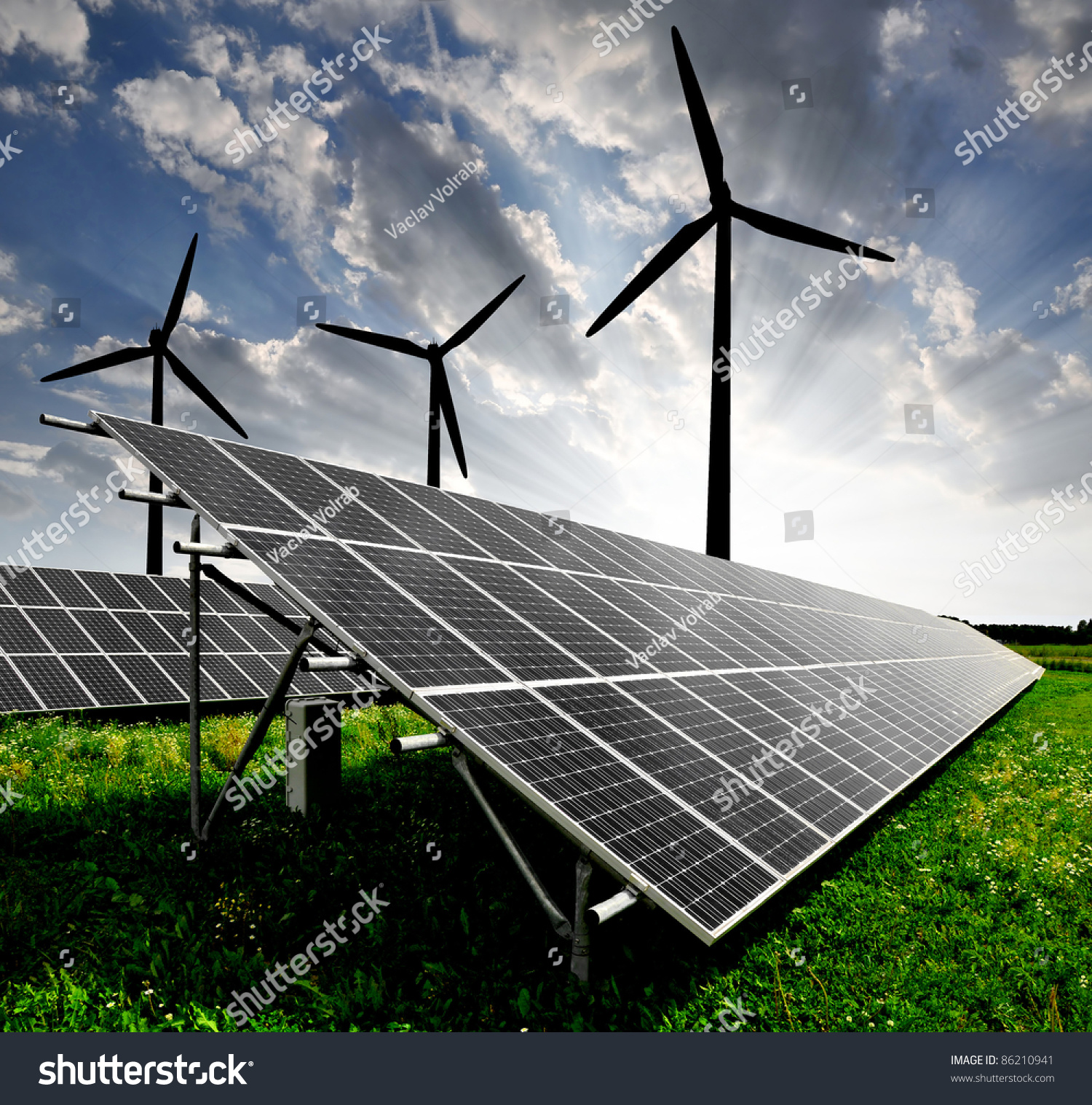 Use Power From The Sun The Smart Way With One Of These Tips stock-photo-solar-energy-panels-and-wind-turbine-86210941