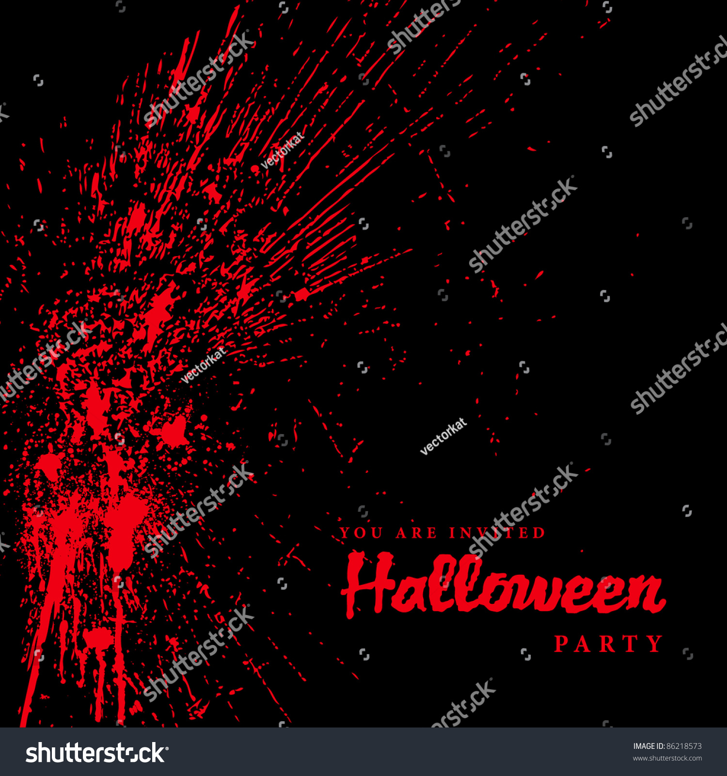 vector blood spatter halloween background easy stock vector royalty