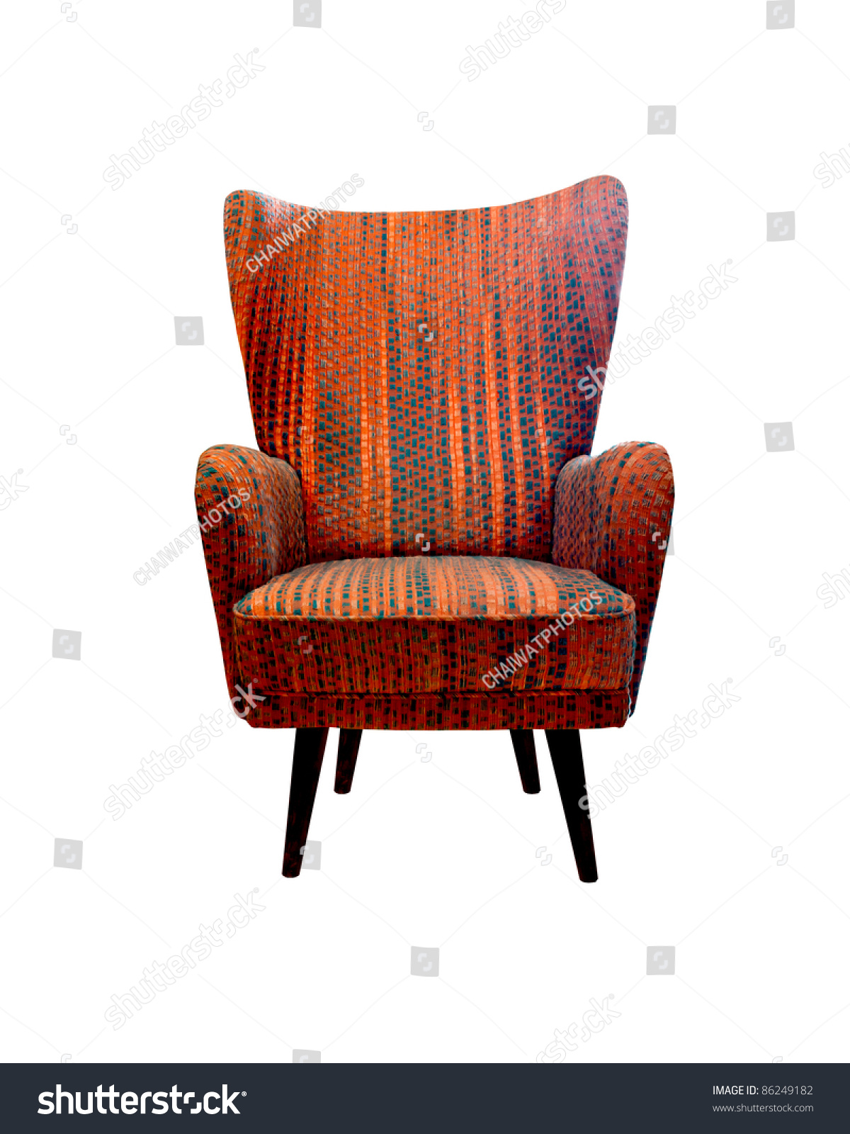 Old Vintage Red Chair Isolated Stock Shutterstock