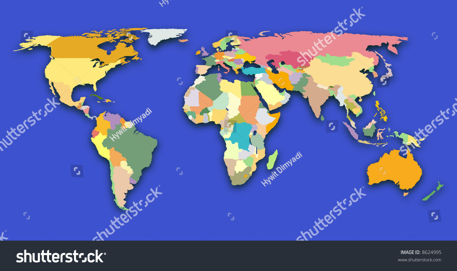 Color Coded World Map Stock Photo Edit Now 8624995 Shutterstock