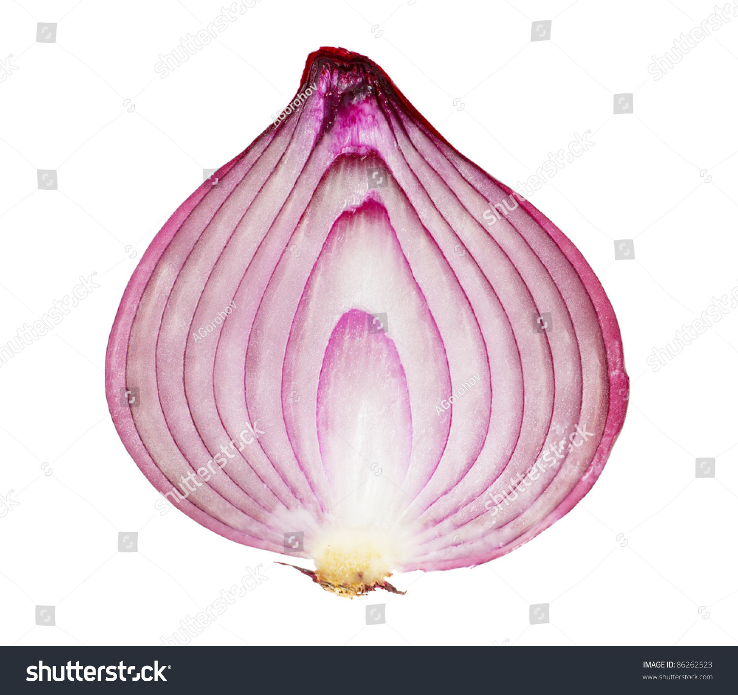 Red Onion Sliced Half Isolated On Stock Photo 86262523 Shutterstock