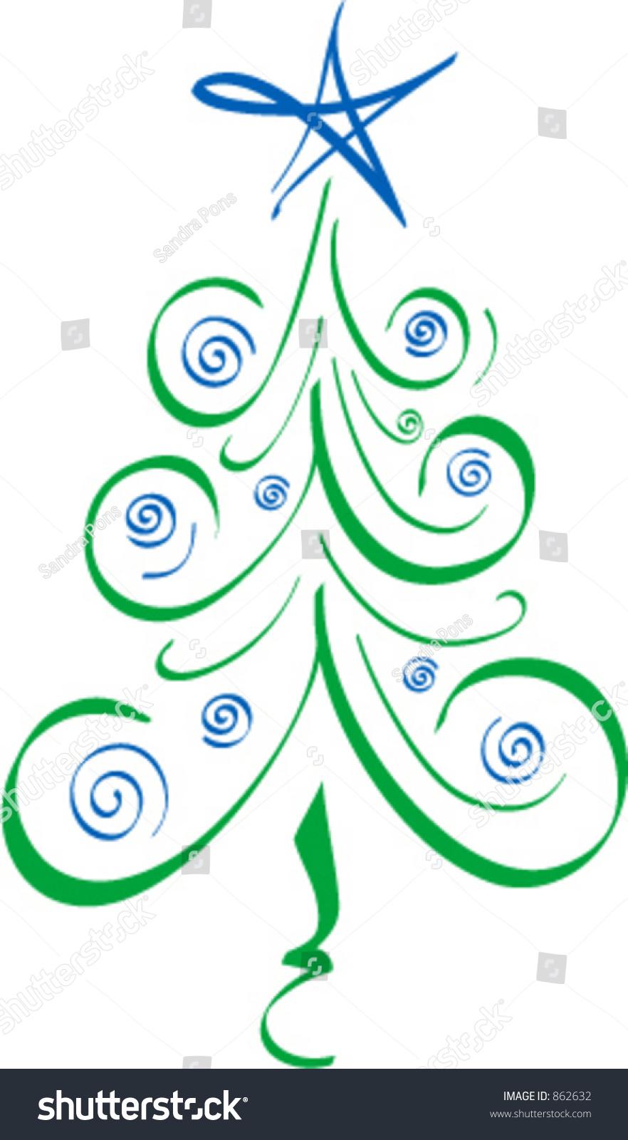 whimsical christmas tree clip art free - photo #17