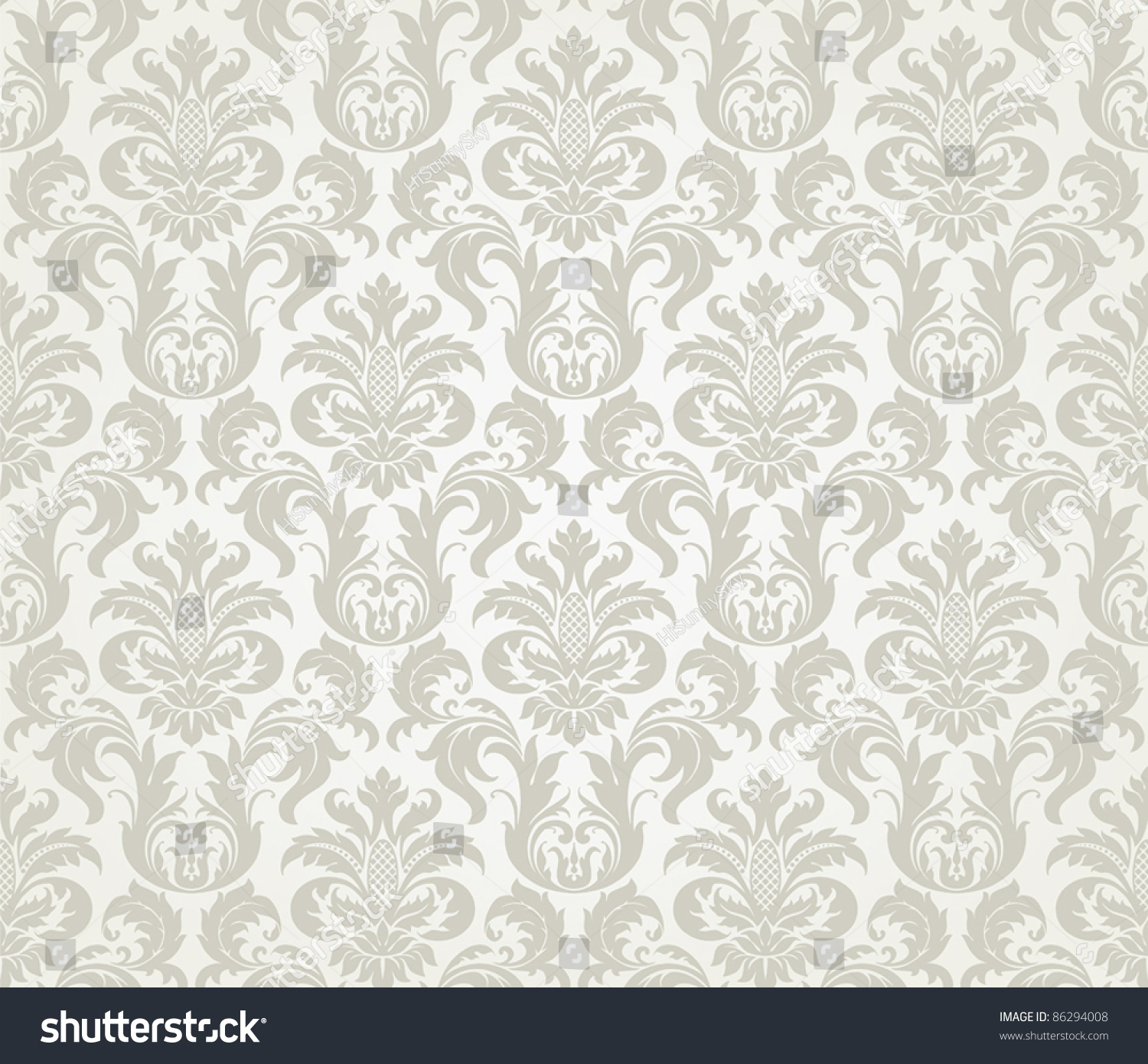 Vector seamless floral damask pattern wedding stock vector vector seamless floral damask pattern for wedding invitation or vintage abstract background stopboris Image collections