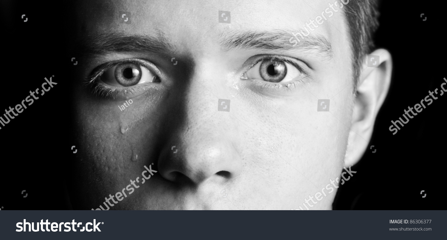 Men'S Eyes Are Crying. Part Of Face. Stock Photo 86306377