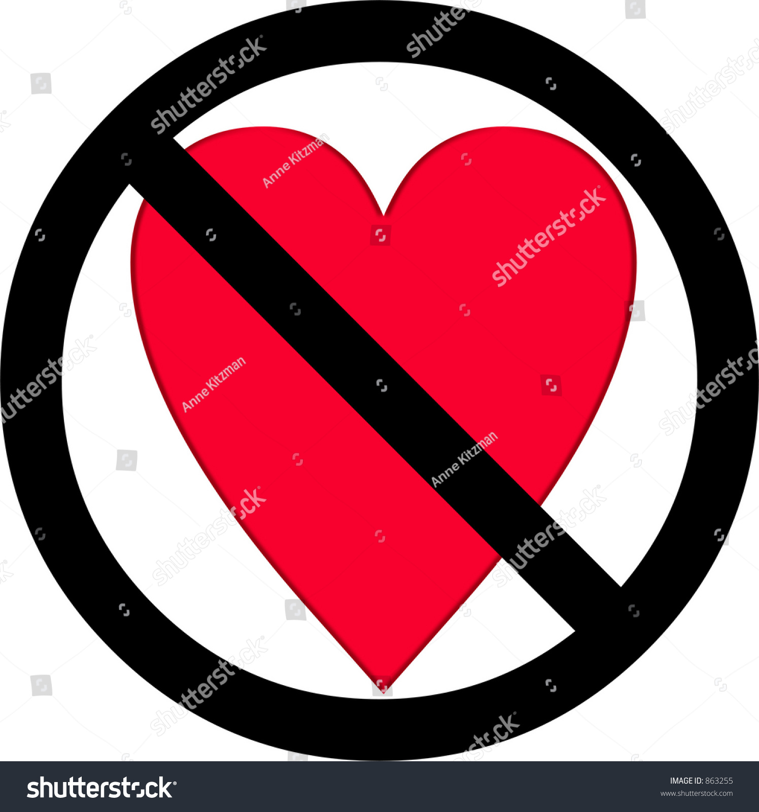 No love symbol stock illustration 863255 shutterstock no love symbol buycottarizona Gallery