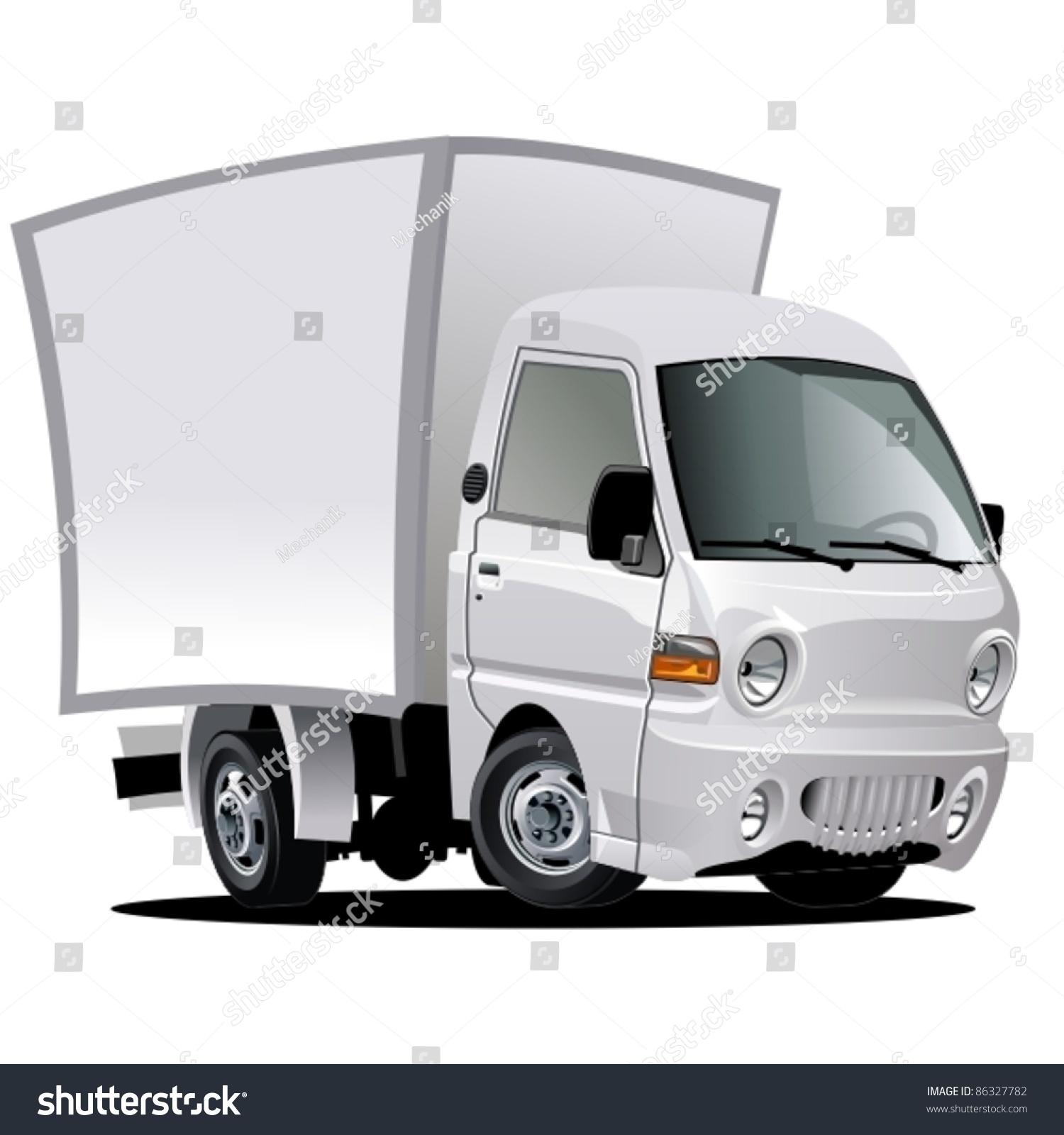 Vector Cartoon Delivery / Cargo Truck - 86327782 ...