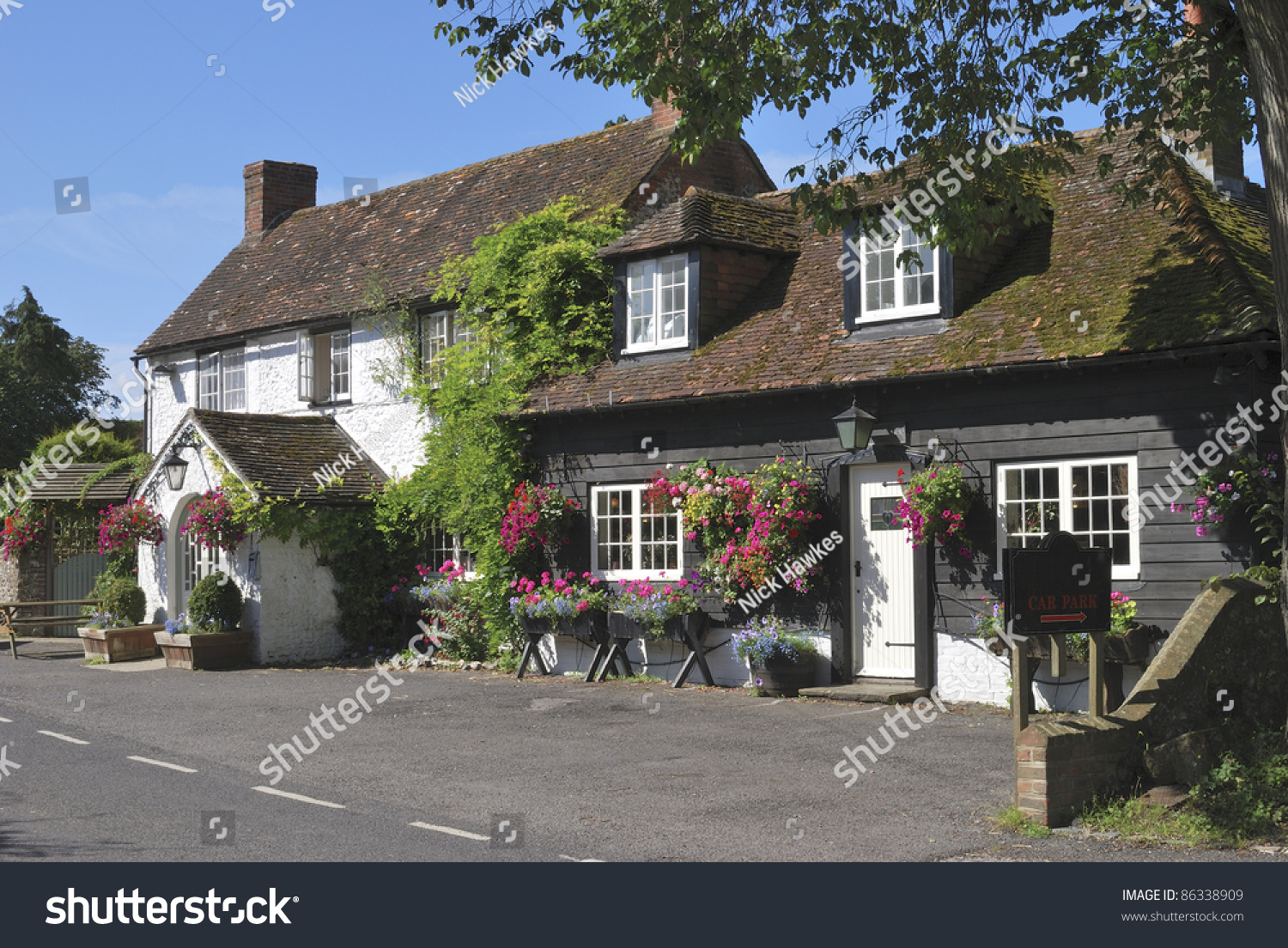 Typical English Country Public House George Stock Photo