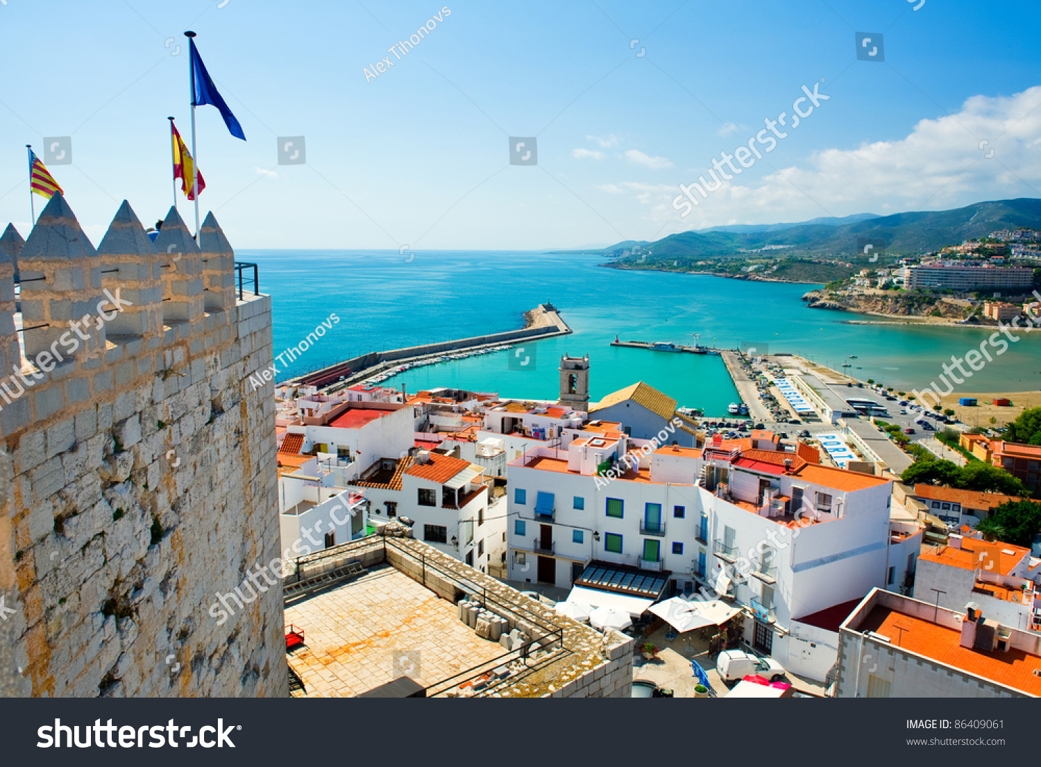 View peniscola port valencia spain stock photo 86409061 for Photo sunshine valence