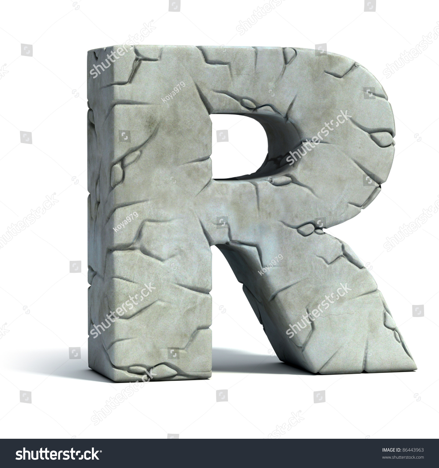 Rocks  Letters