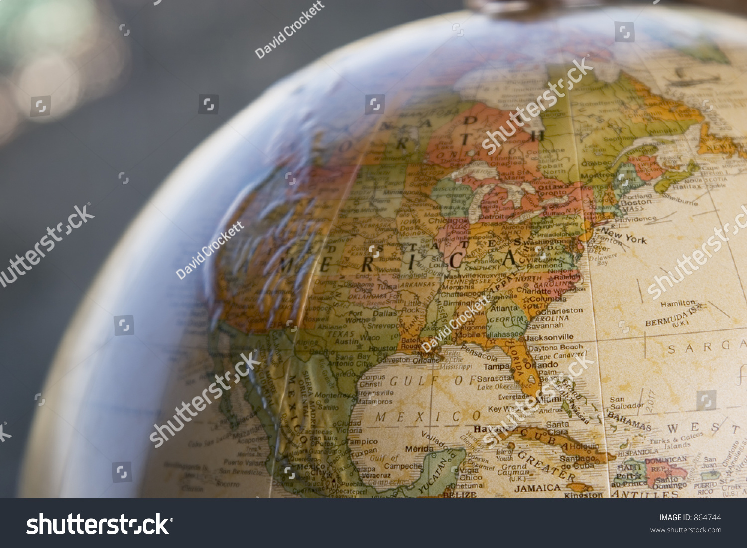 Globe closeup usa stock photo edit now 864744 shutterstock globe close up of usa freerunsca Image collections