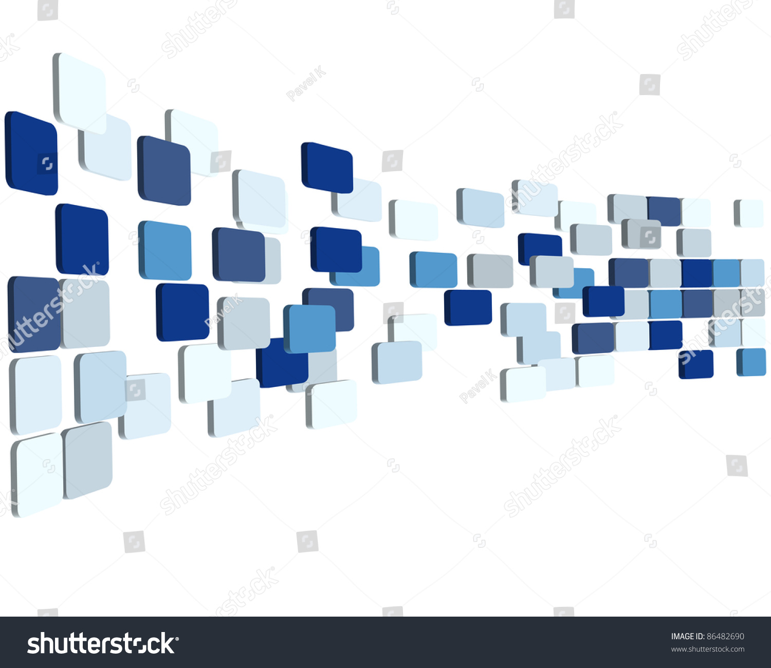 Abstract 3d Checked Business Background Use Stock Vector
