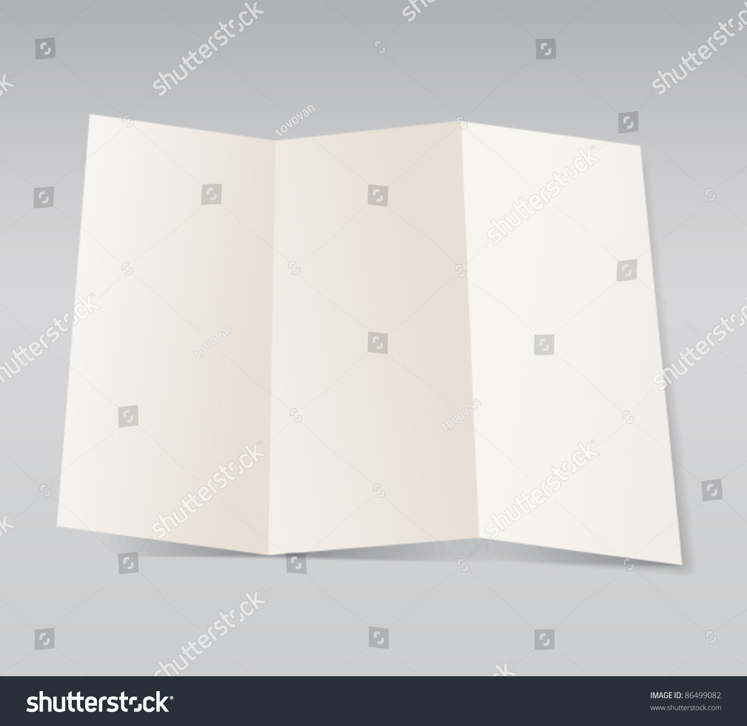 Paper Blank Brochure Template Ready Text Vector 86499082 – Blank Brochure Template